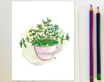 Plantes d'intérieurs tasse - Carte-1