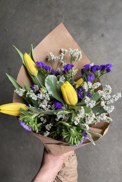 Bouquet le Jaune et mauve