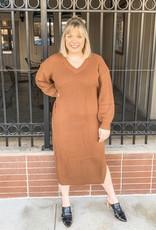 Camel Sweater Dress