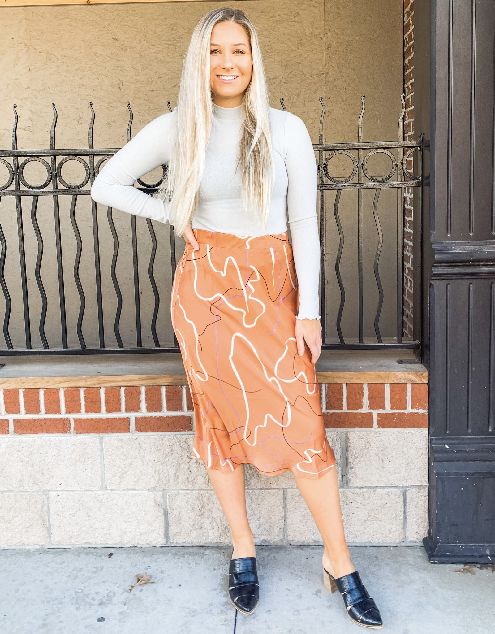 Dreamsicle Satin Midi