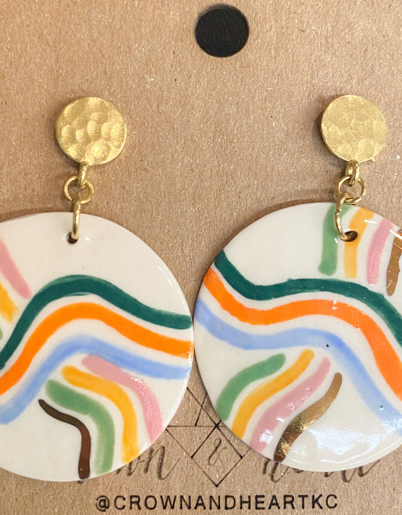 Rainbow Stripe Earring