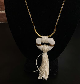 Faceted Tassel Necklace