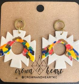 Geometric Color Dash Earrings
