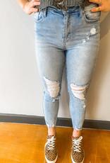 Kara Destroyed Ankle Skinny