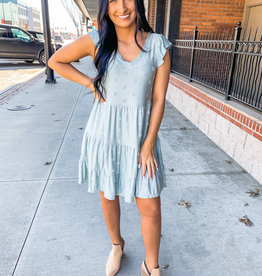 Sage Dotted Dress