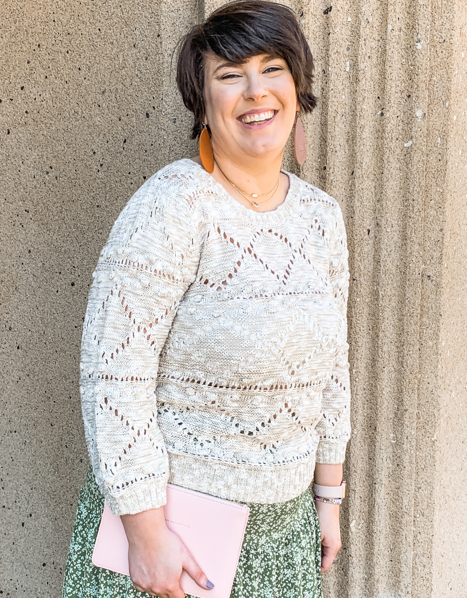 Cable Knit Pom Sweater