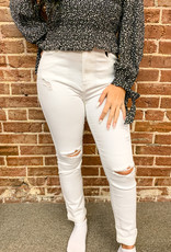 Destructed White Skinny