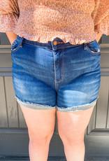 Dark Hemmed Shorts