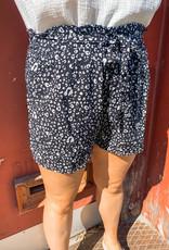 Black Leopard Shorts