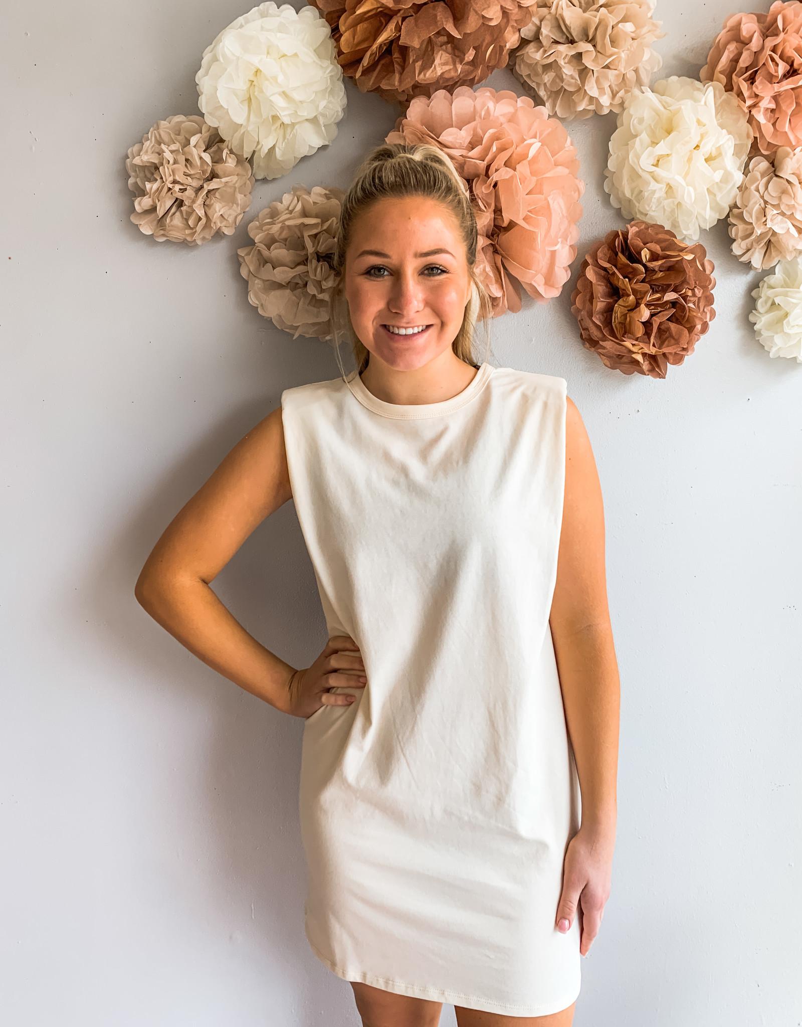 Shoulder-Pad Mini Dress