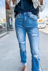 Cuffed Straight Leg Jeans