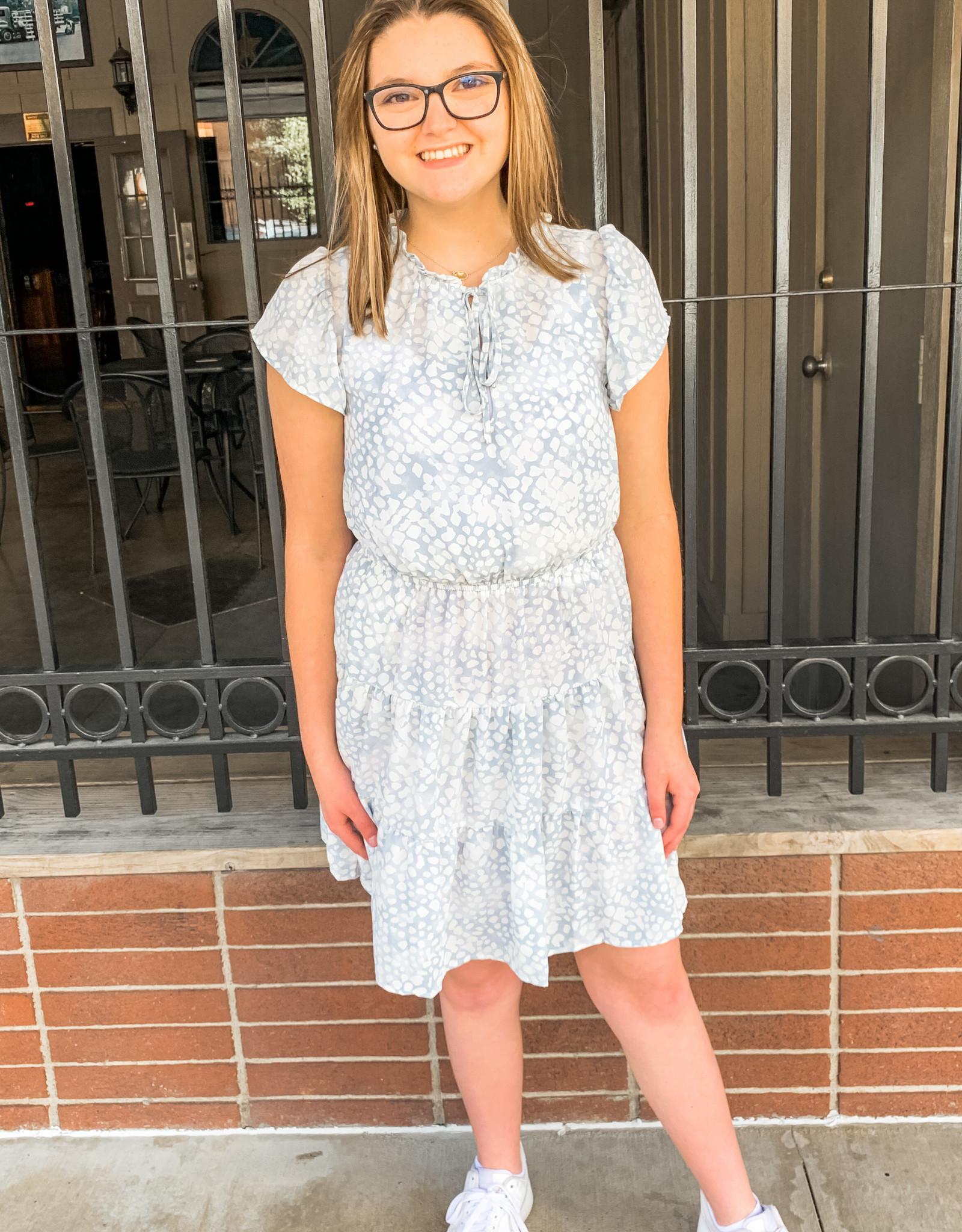 Blue Flutter Dress