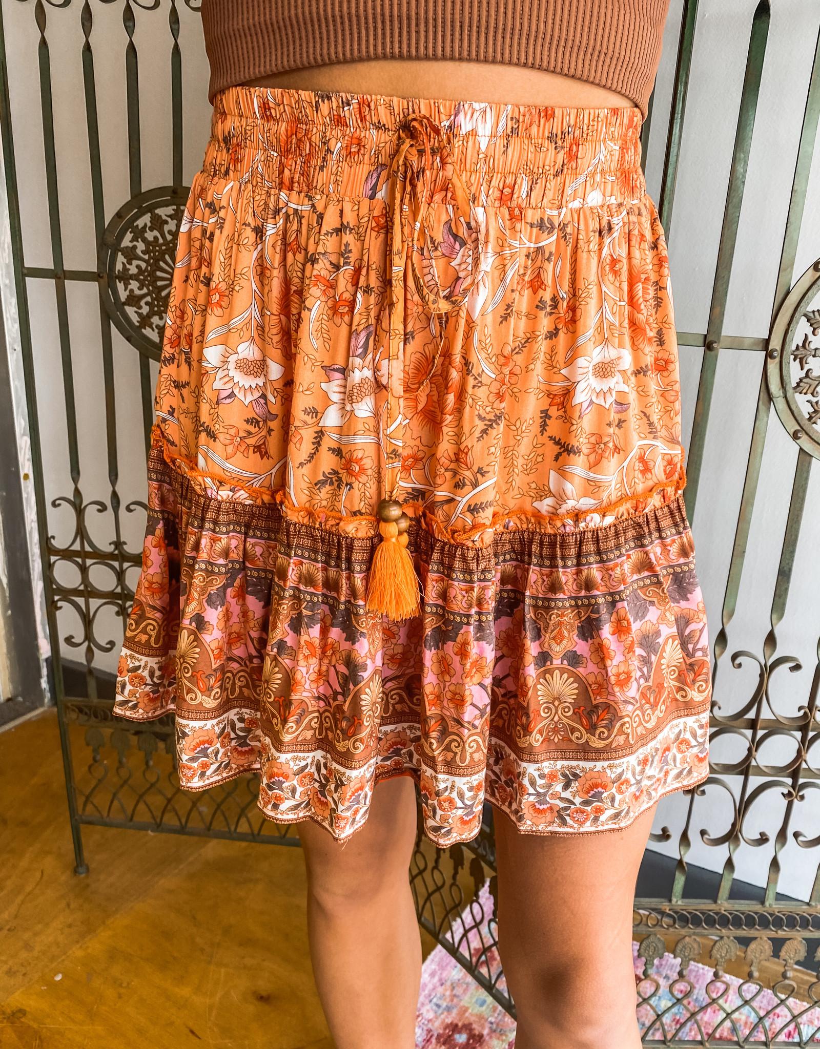 Tangerine Mini Skirt