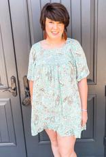 Paisley Sage Dress