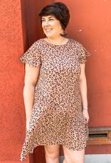 Latte Leopard Swing Dress