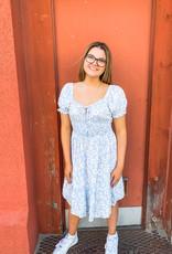 Blue Skies Floral Dress