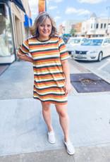 Green Stripe Tee Dress