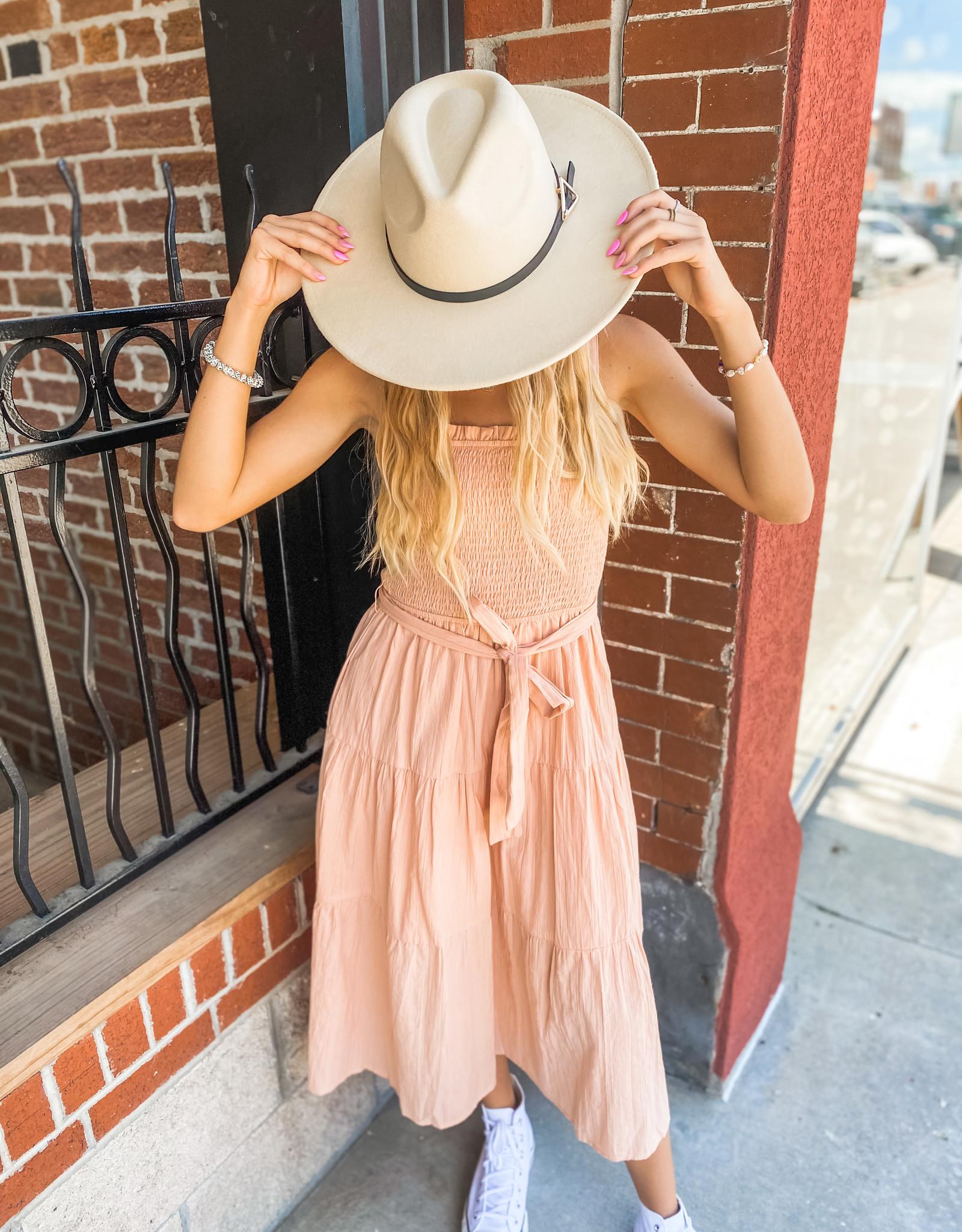 Blush Fit & Flare Dress