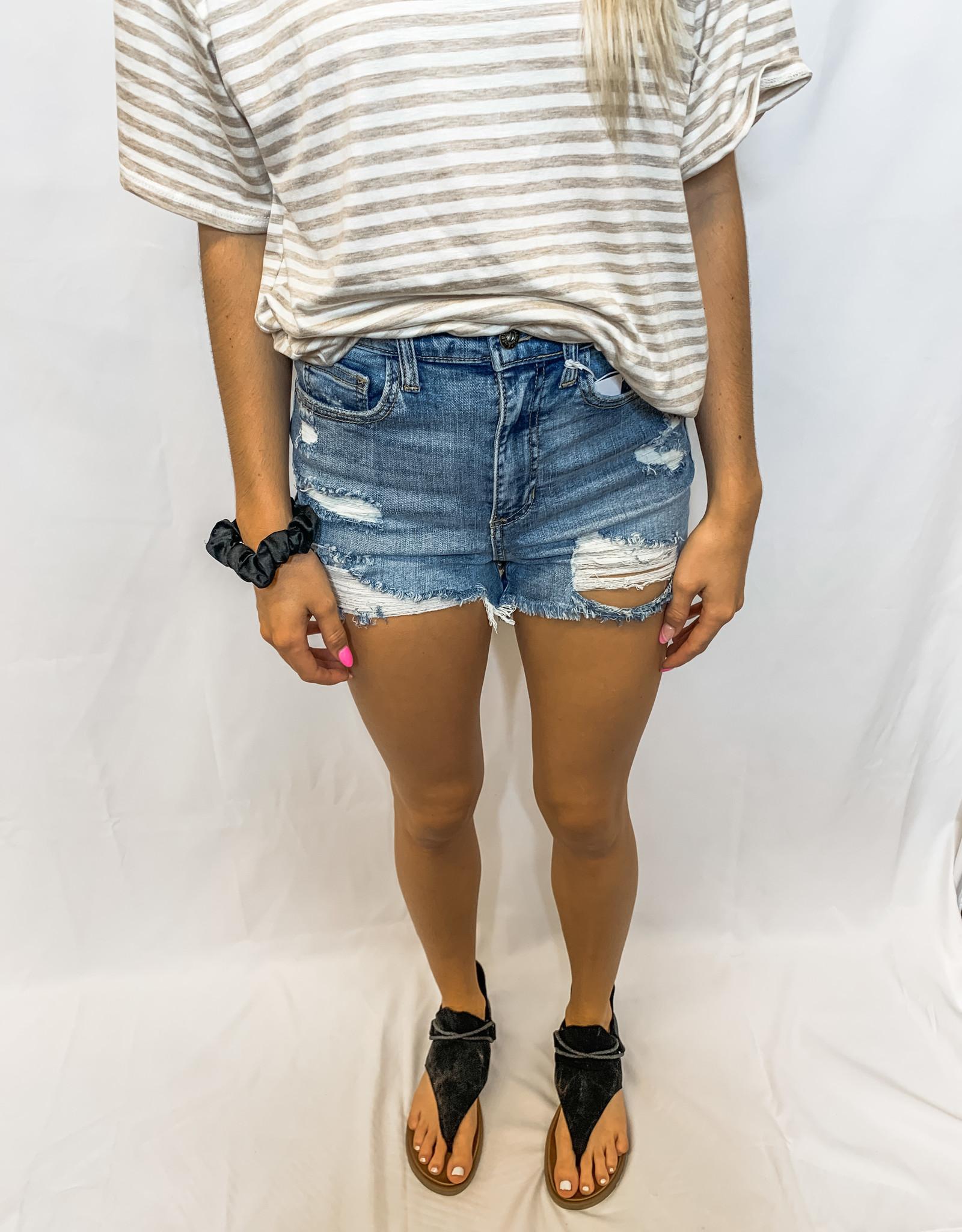 High-rise Frayed Shorts