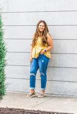 Golden Crochet Tank