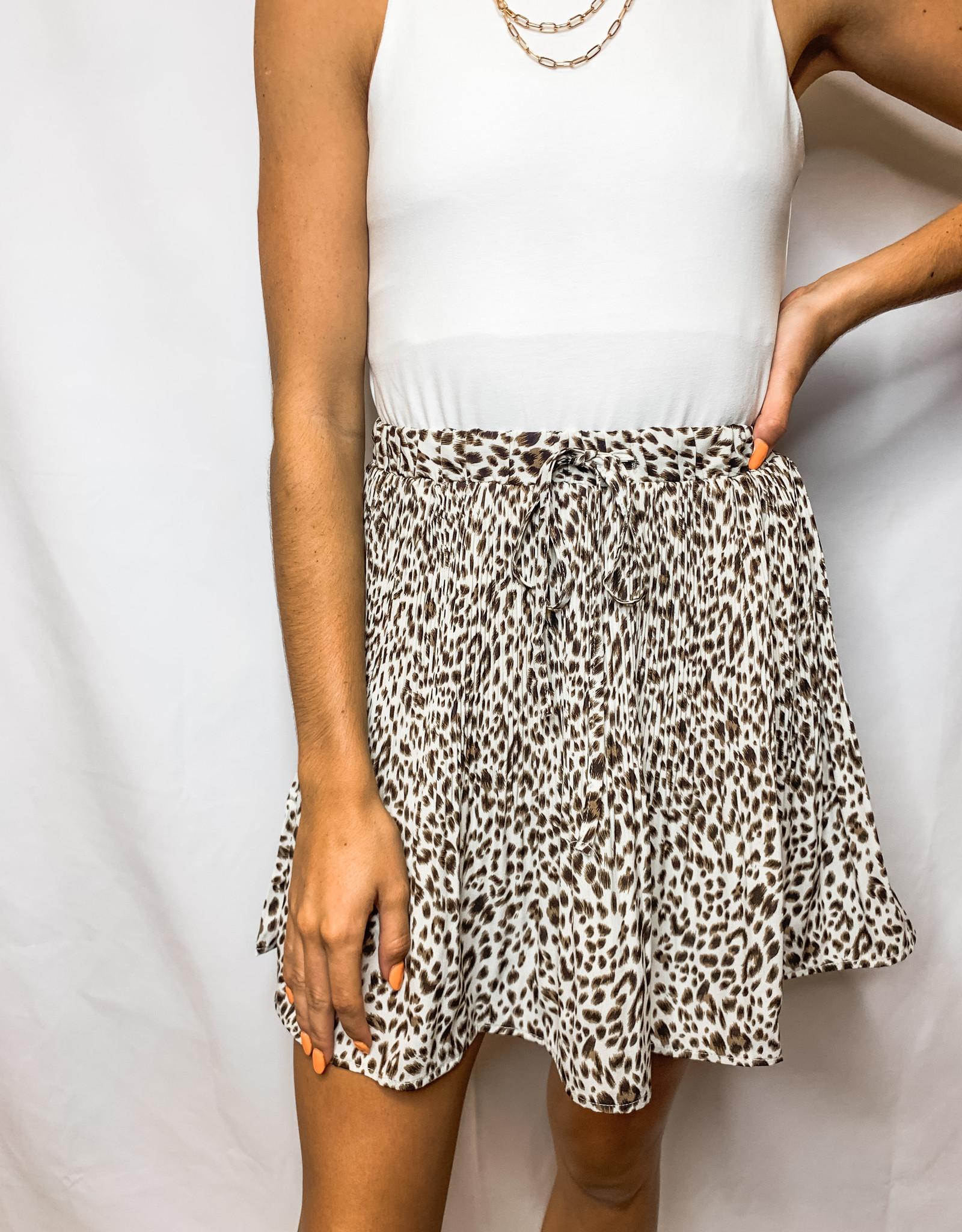 Leopard Latte Mini Skirt