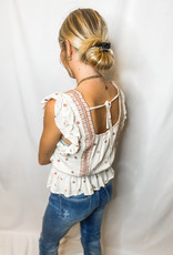 Little Red Embroidered Blouse