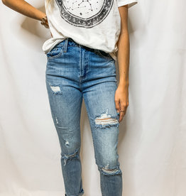 Light Wash Relaxed Skinnies
