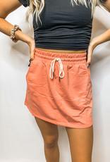 Peach Pink Tennis Skirt