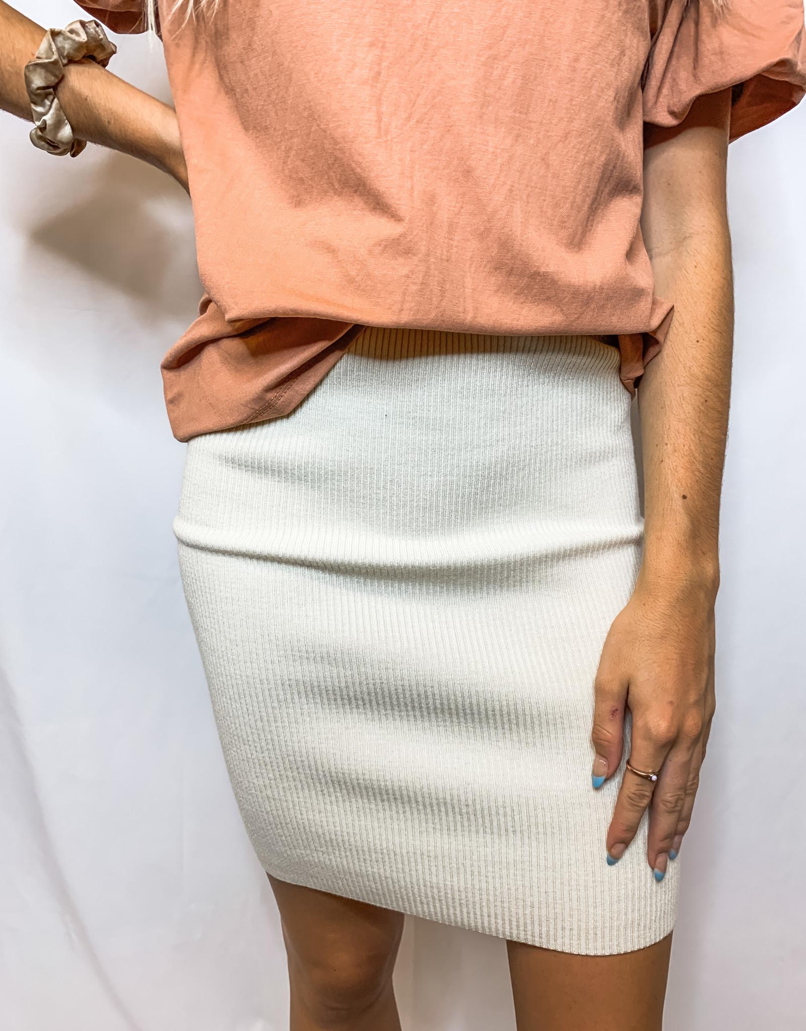 Whipped Cream Knit Skirt