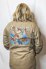 Embroidered Cargo Jacket