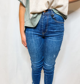Classroom Frayed Ankle Skinnies
