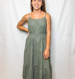 Olive Laced Midi