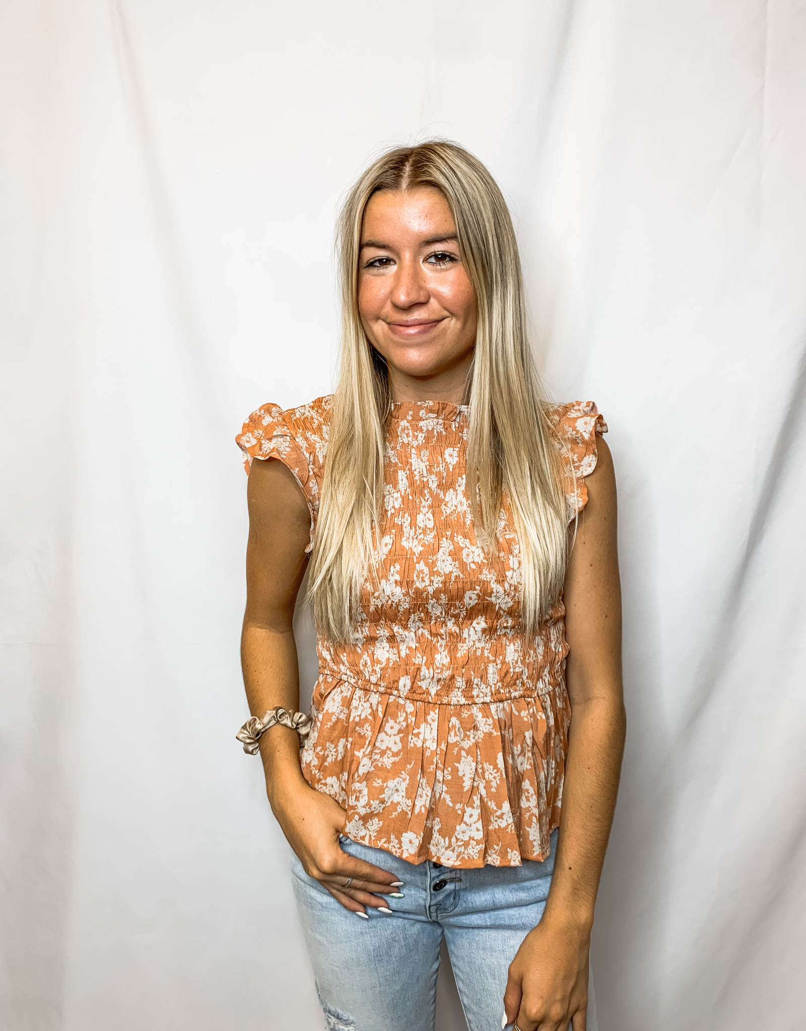 Clay Floral Blouse