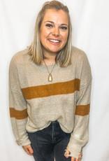 Badger Frayed Sweater