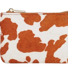 Cow Print Leather Keychain Wallet