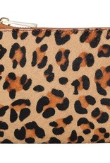 Cheetah Leather Keychain Wallet
