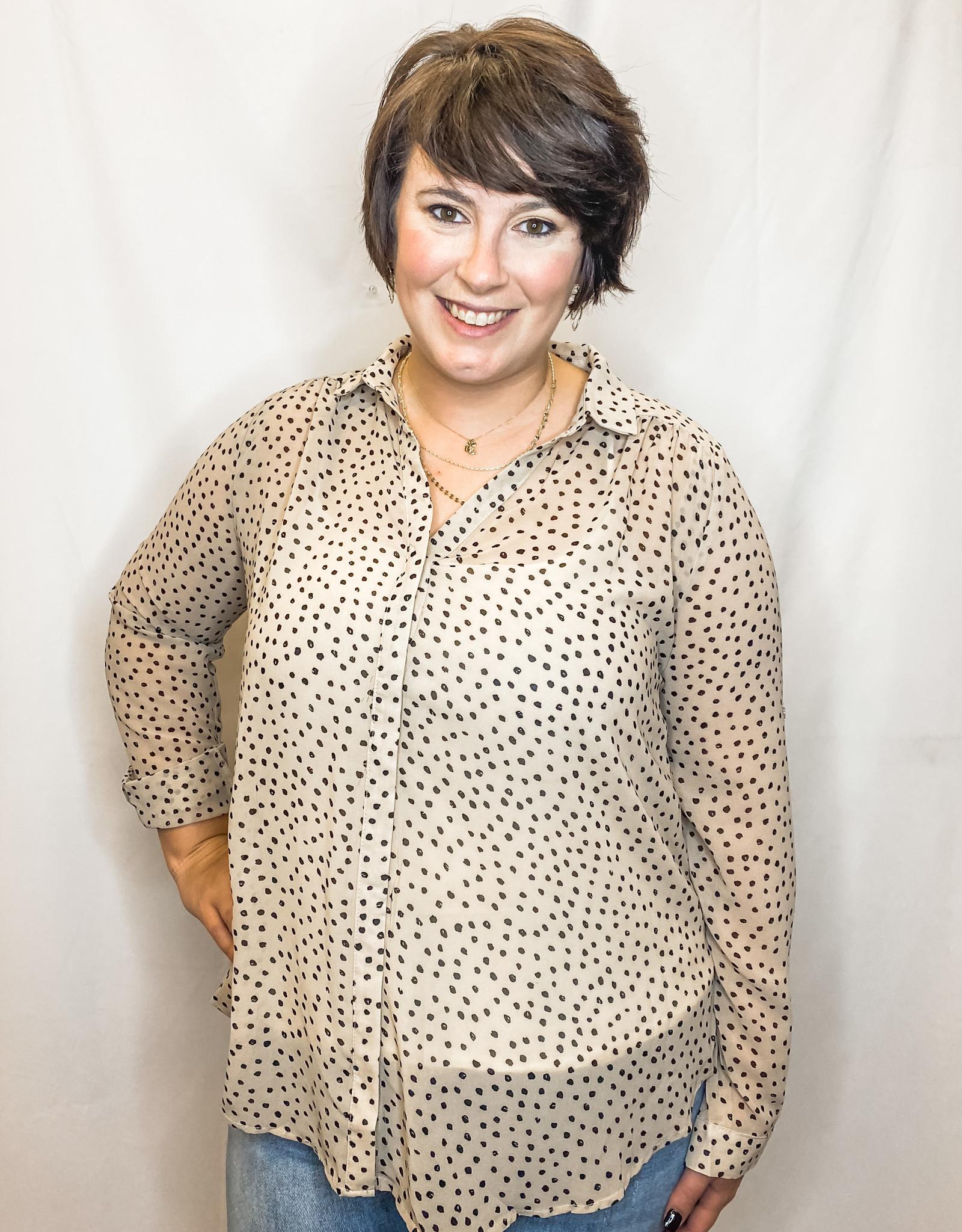 Neutral Leopard Blouse