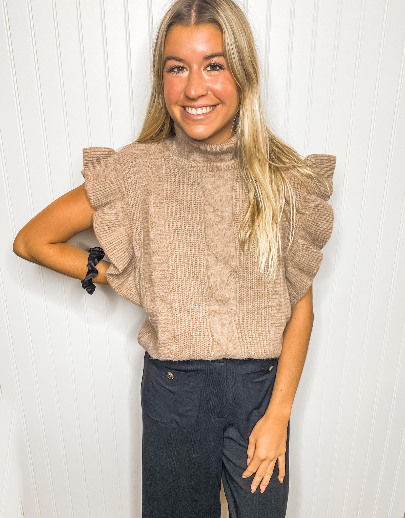 Flutter Sleeveless Sweater