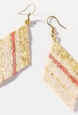 Terra Cotta Gold Ivory Diamond Luxe Stripe Earring
