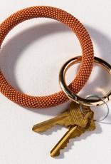 Rust Seed Bead Key Ring