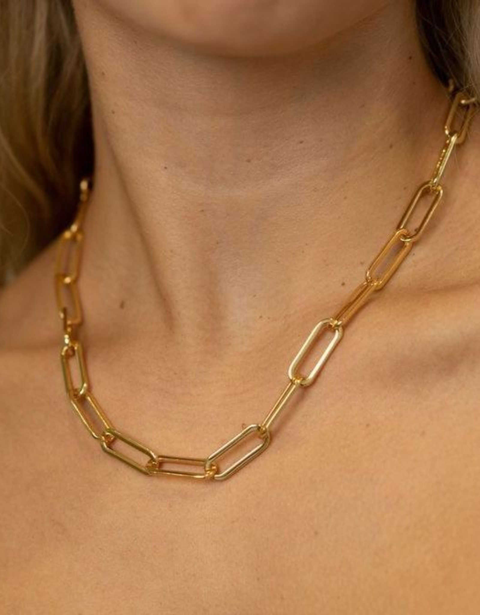Chunky Paperclip Necklace