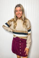Oatmeal Stripe Sweater