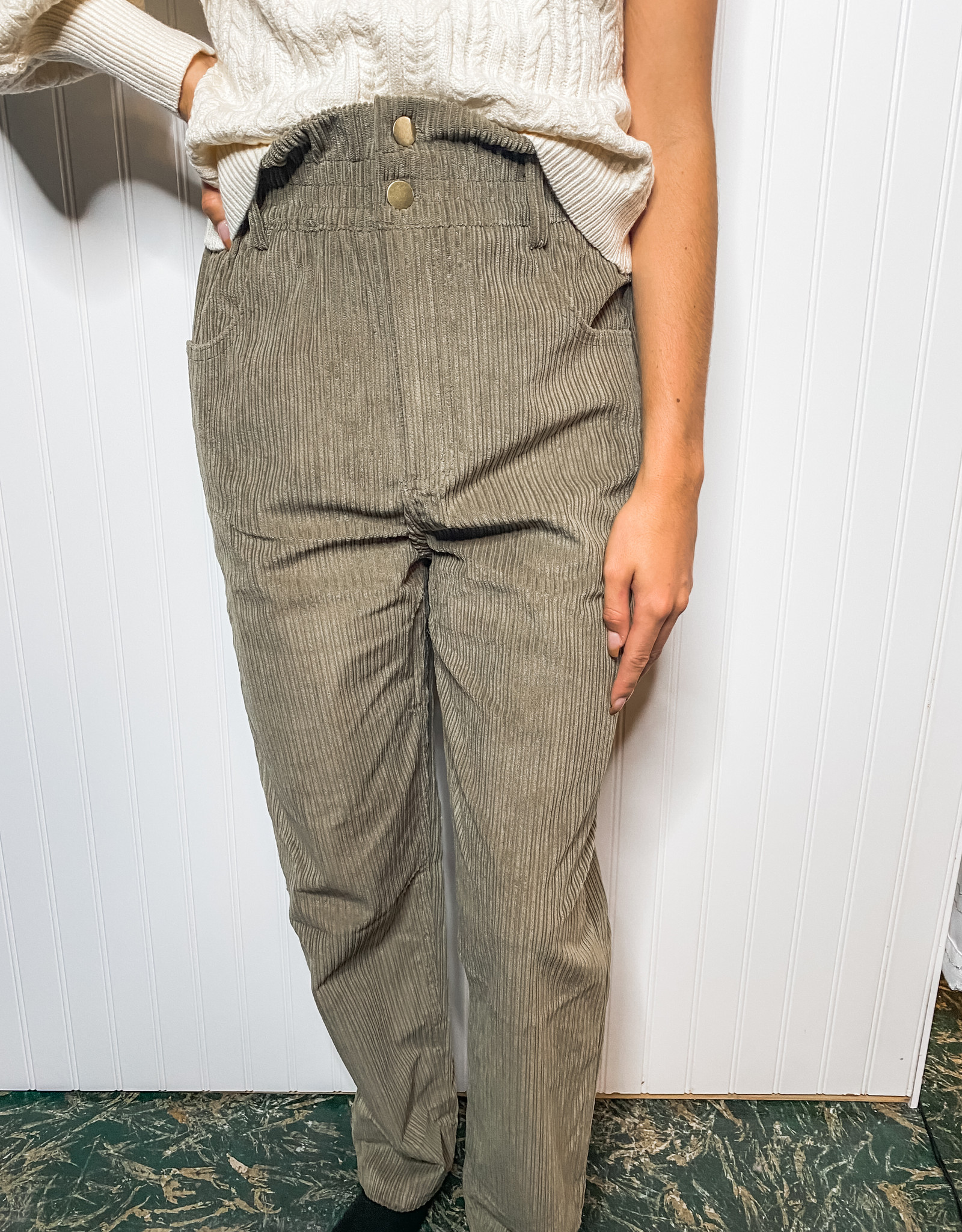 Olive Corduroy Pant