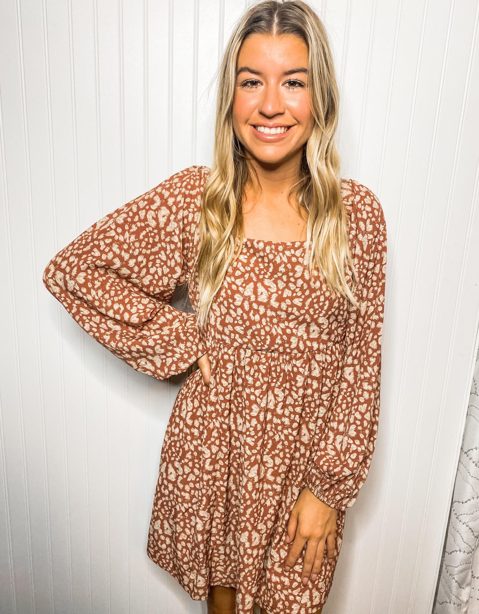 Rose Leopard Dress