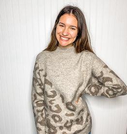 Asymmetrical Leopard Sweater