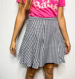 Butterscotch Gingham Skirt