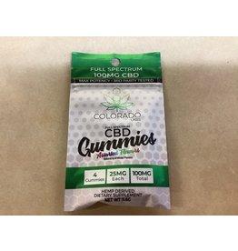 Colorado Labs CBD Gummies 25 mg each 4 pack