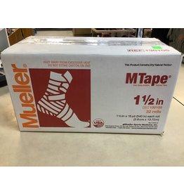 Mueller Sports Medicine MTape White 1.5 inch x 10 yard roll 32 rolls per case