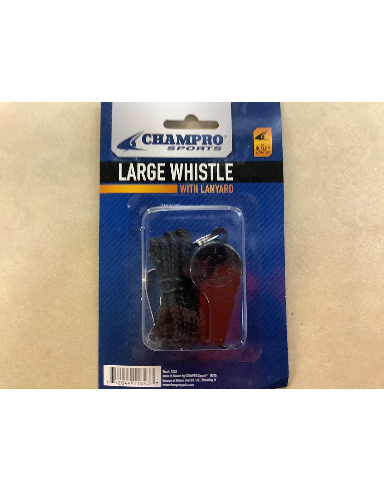 Champro Large Whistle w/ Lanyard Plastic