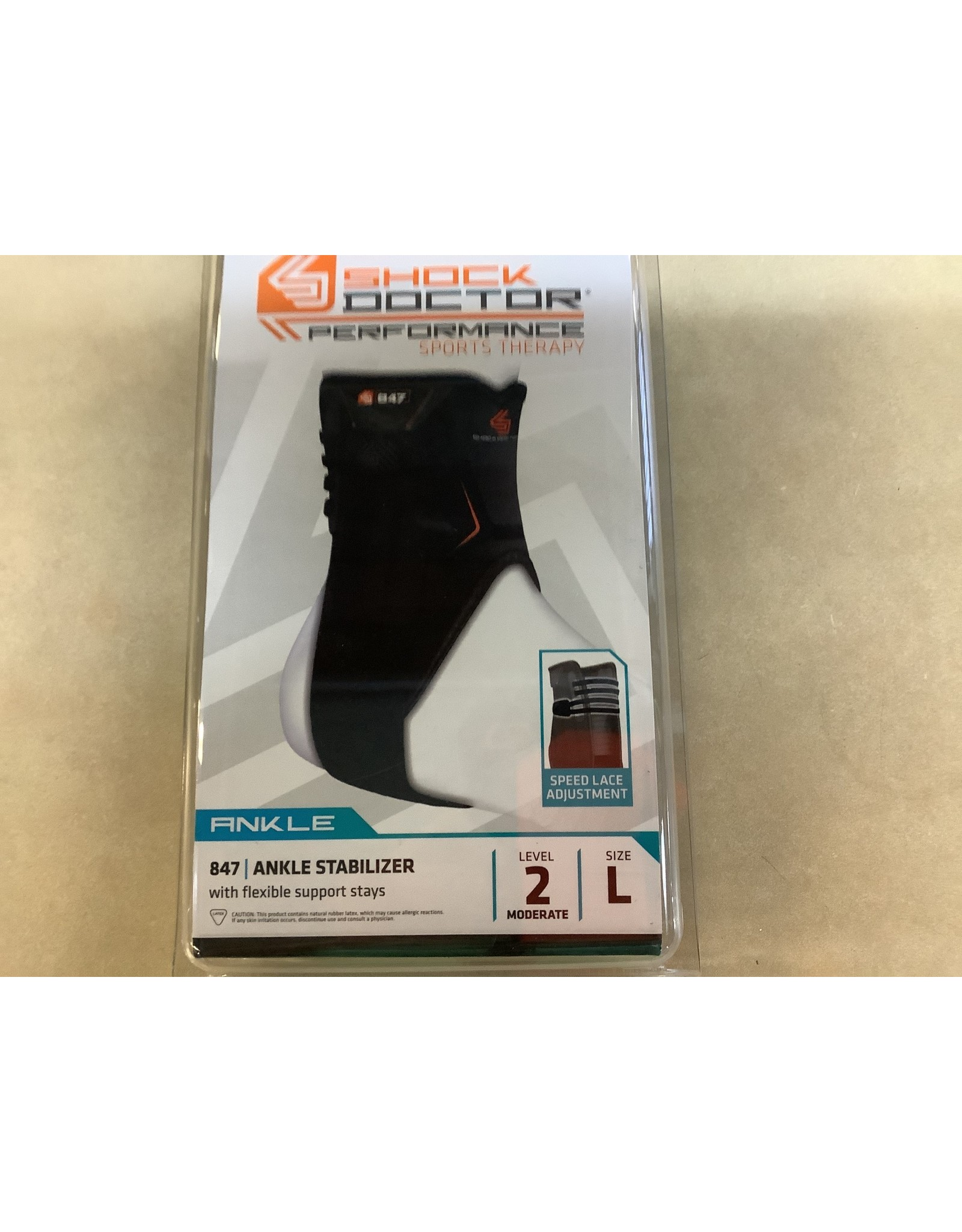 Shock Doctor 847 Ankle Stabilizer w/ flexible support stays